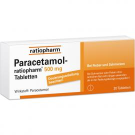 PARACETAMOL RATIO 500MG 20ST