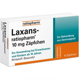 LAXANS RATIO 10MG SUP