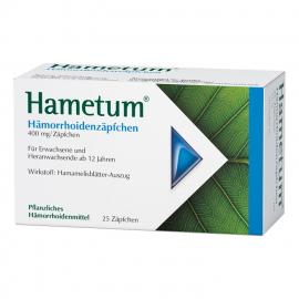 HAMETUM HÄMORRHOIDEN SUPPOSITORIEN 25ST